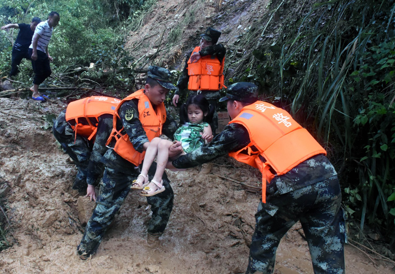 6 dead, 1 missing as hail, floods hit east China