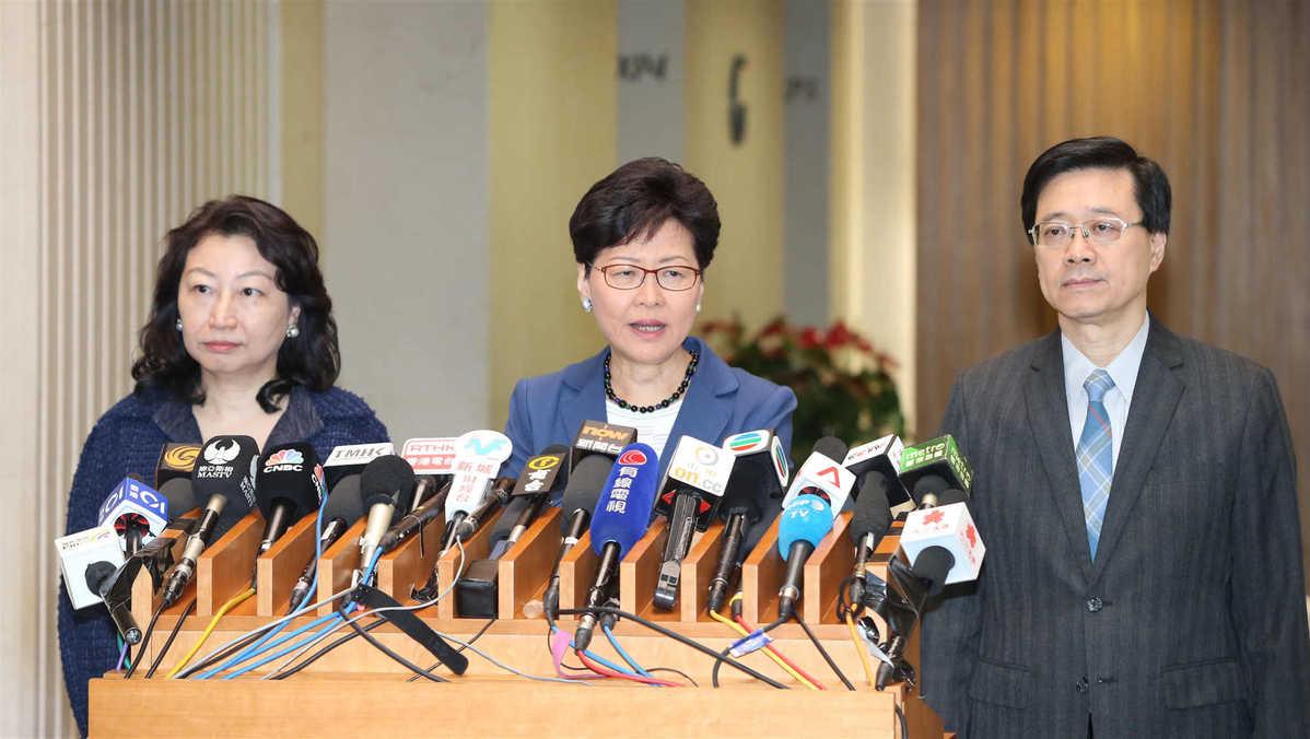 Lam regrets clashes, says law amendment to advance