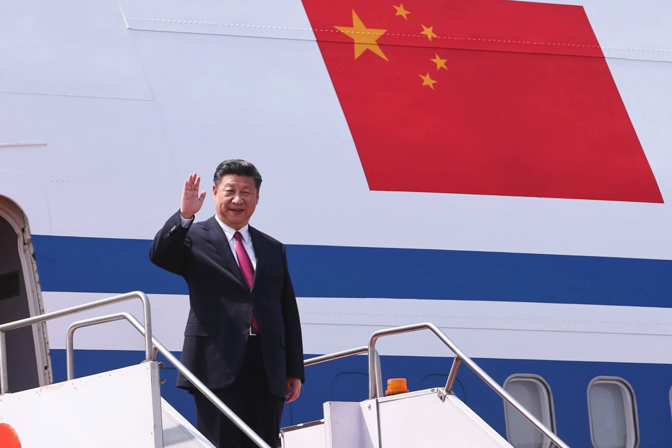 Chinese president leaves for Kyrgyzstan, Tajikistan