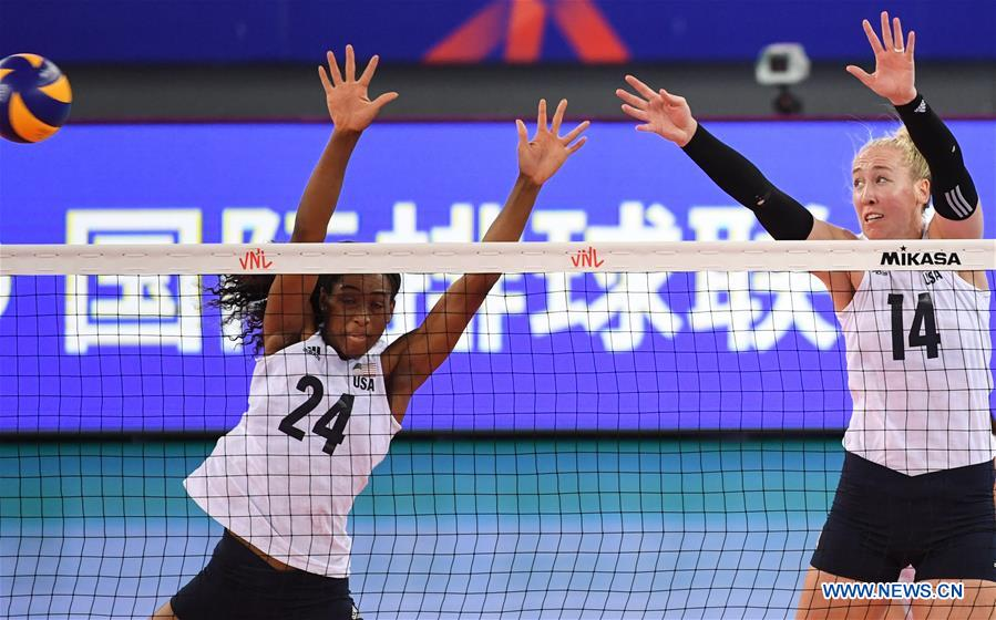 FIVB women's volleyball nations league: U.S. vs. Poland