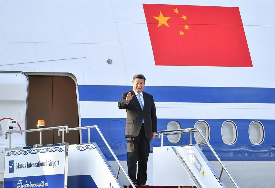 Chinese president arrives in Kyrgyzstan for state visit, SCO summit