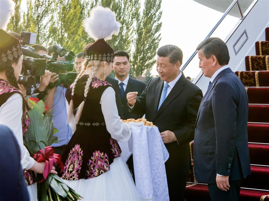 Chinese, Kyrgyz presidents pledge to promote bilateral ties