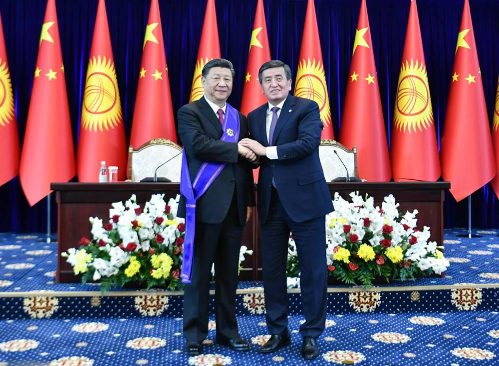 Chinese president awarded Kyrgyzstan's highest medal