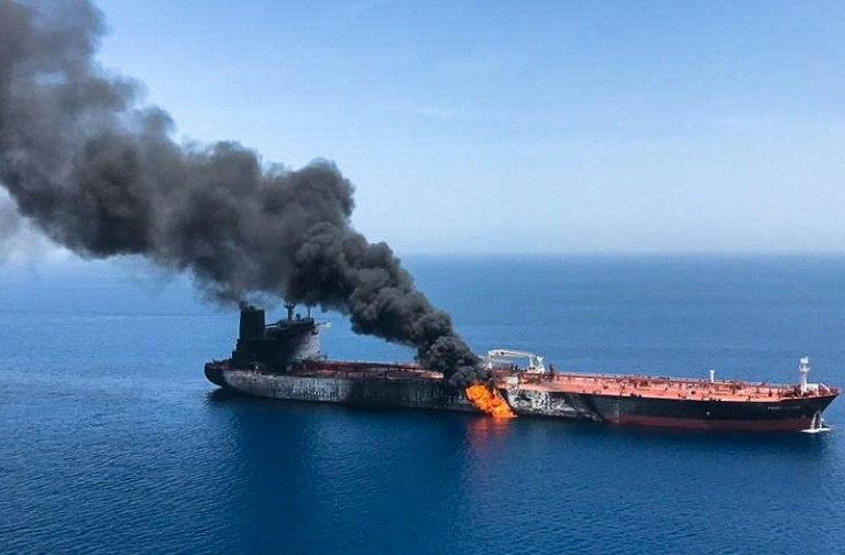 Oil prices surge on reported tanker attacks