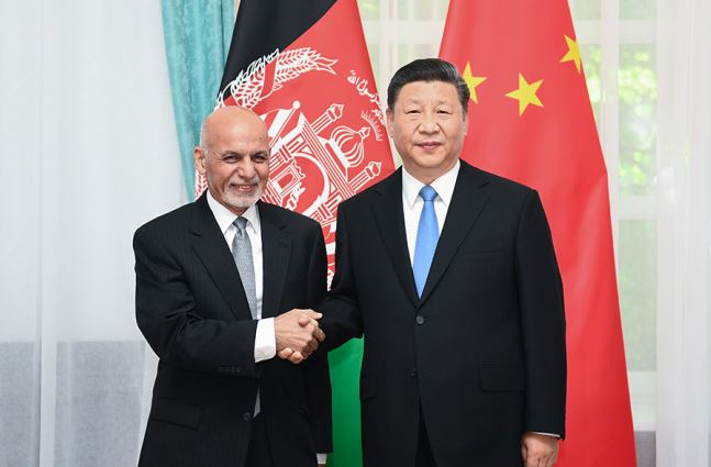 Chinese, Afghan presidents pledge joint efforts to promote ties