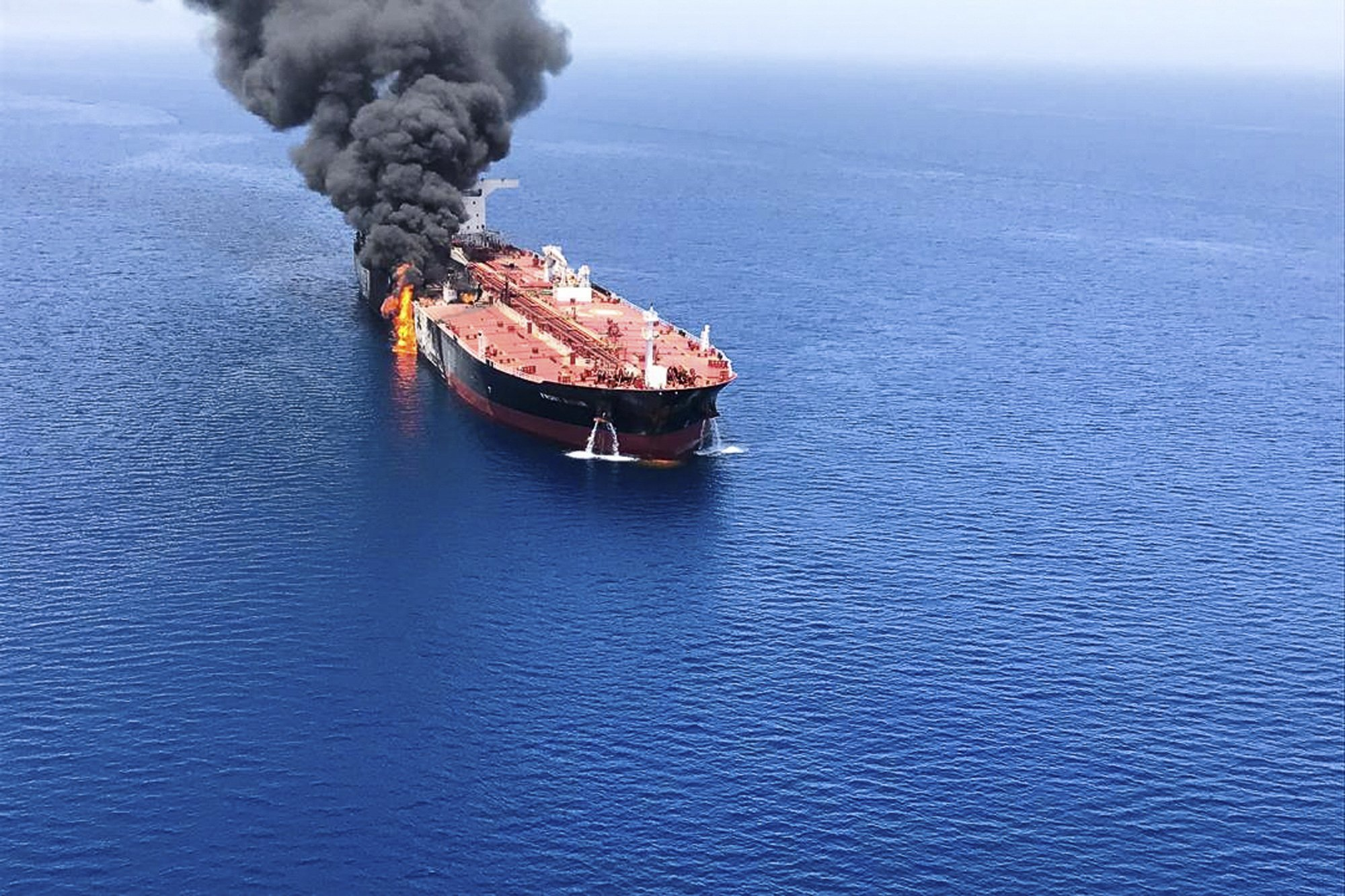 US blames Iran for attacks on oil tankers in Sea of Oman