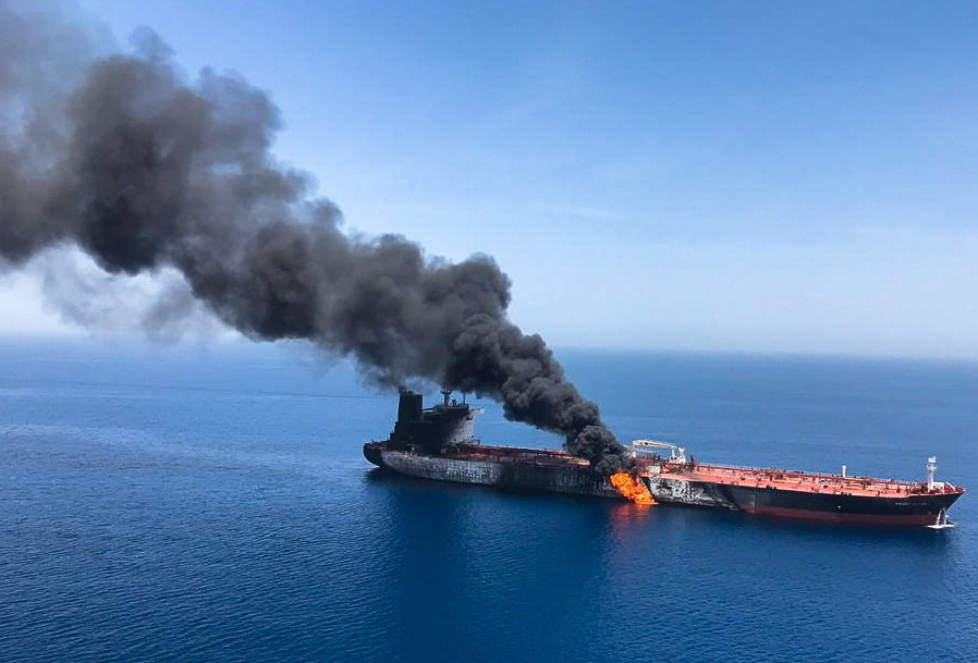 Oil prices surge after attacks on oil tankers in Gulf of Oman