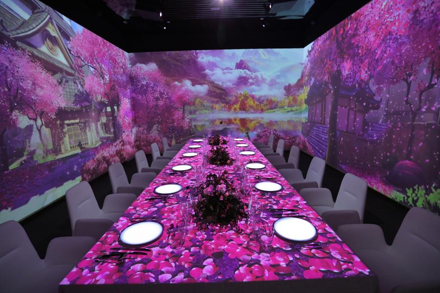 Art restaurant puts a new spin on 'light' dining