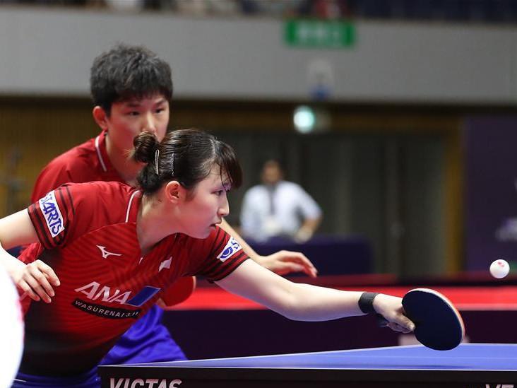 Highlights of mixed doubles semifinal matches at ITTF World Tour Platinum Japan Open