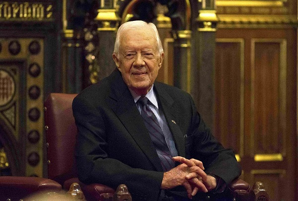 Jimmy Carter receives award for role in China-US relations