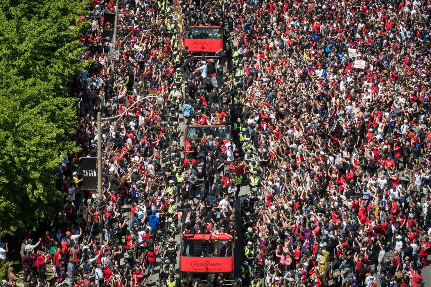 Two seriously injured in Toronto Raptors victory parade: police