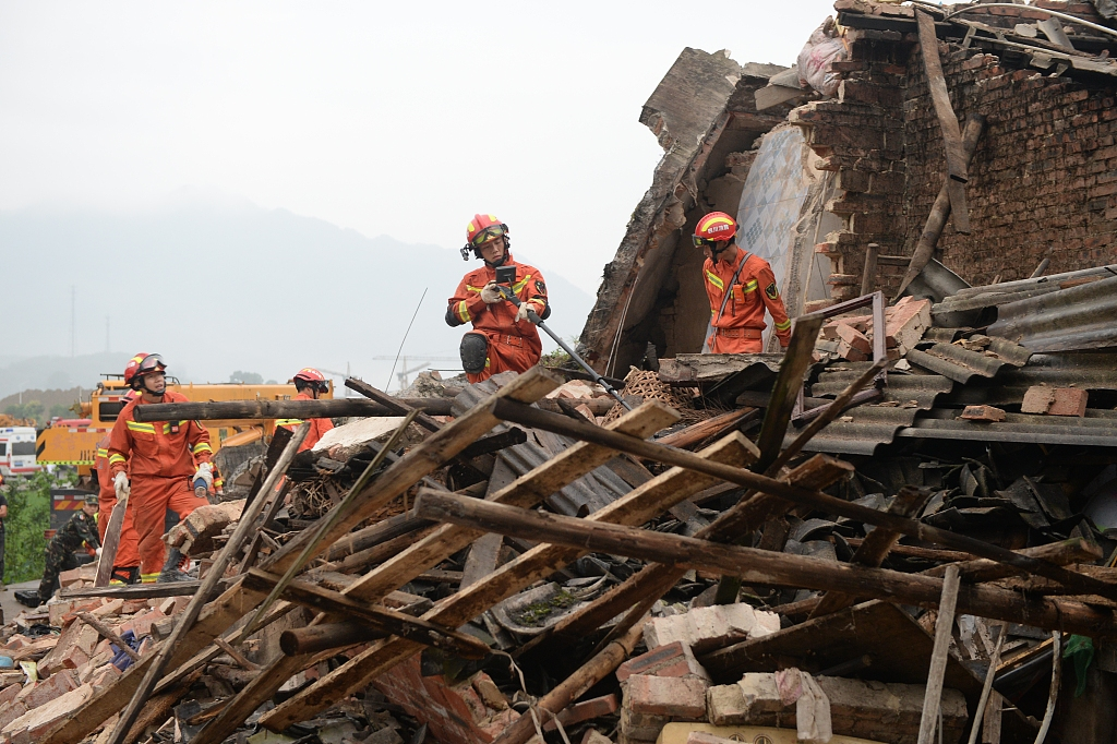 Search operation continues as death toll rises to 13 in China earthquake
