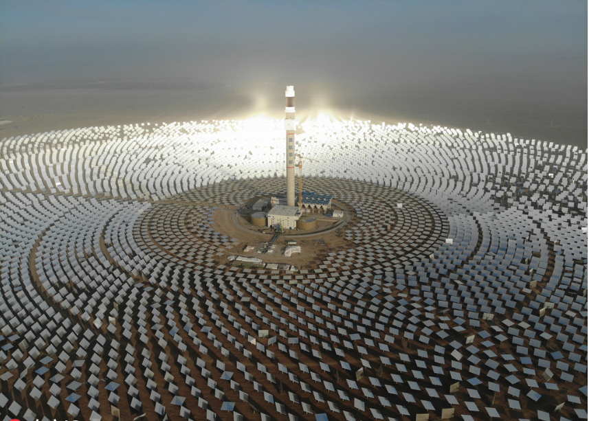 First molten salt solar thermal power plant runs at full capacity
