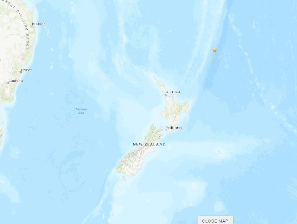 6.8-magnitude quake hits 159km ENE of L'Esperance Rock, New Zealand -- USGS
