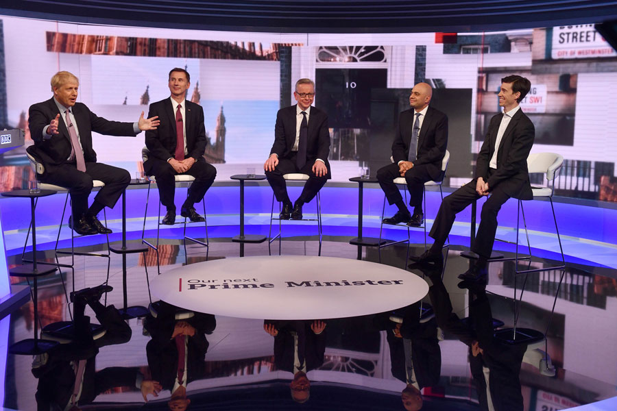Four candidates go on to next round in UK leadership race