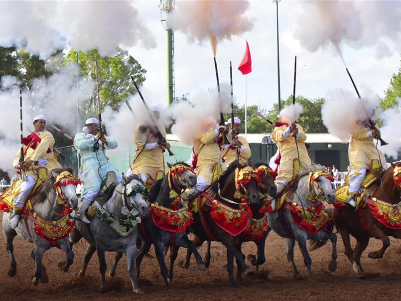 Fantasia horse show held in Rabat, Morocco