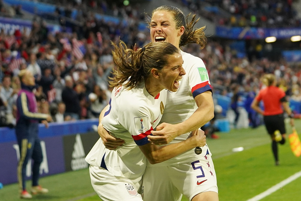Women's World Cup: US beat Sweden to set up Spain tie, China to face Italy in last 16