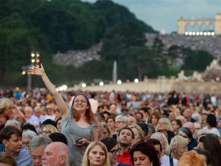 Summer Night Concert 2019 staged at Schonbrunn Palace in Vienna