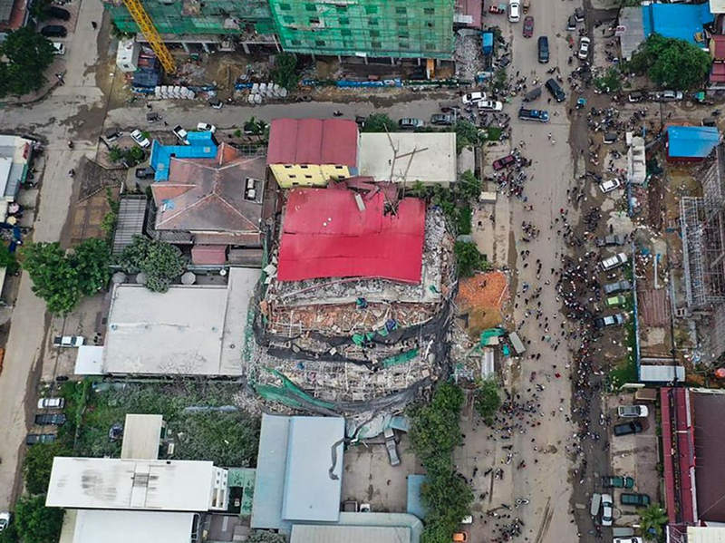 3 dead, dozens feared buried in Cambodia building collapse: official