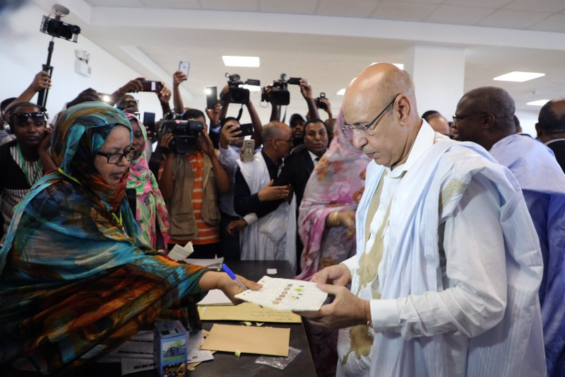 Mauritania votes as 1st peaceful transfer of power expected