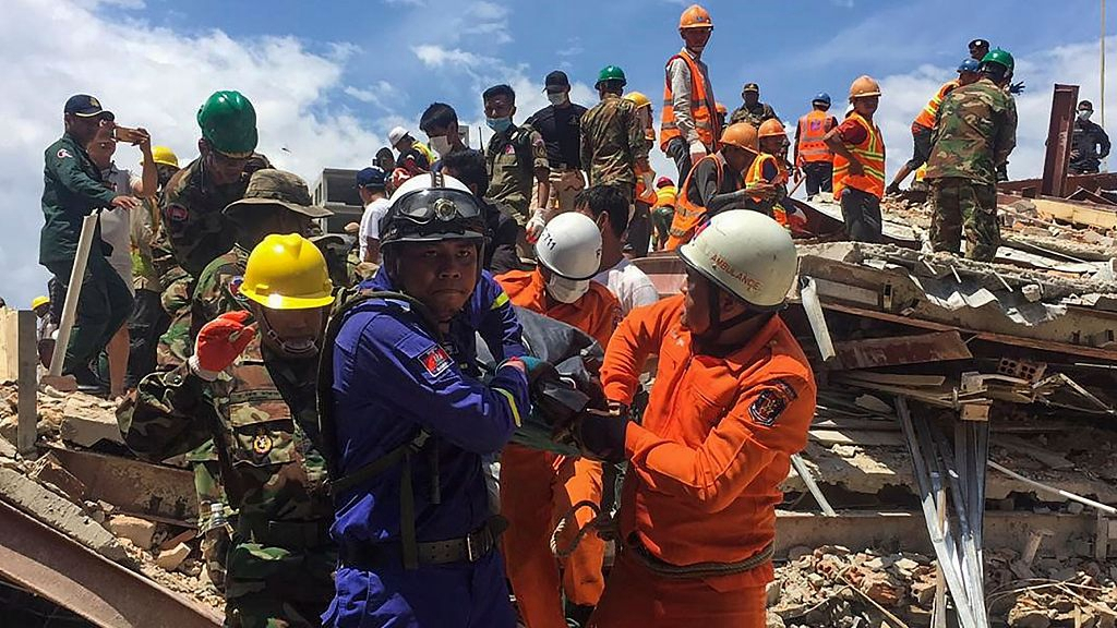 At least 18 dead, 24 injured in Cambodia building collapse