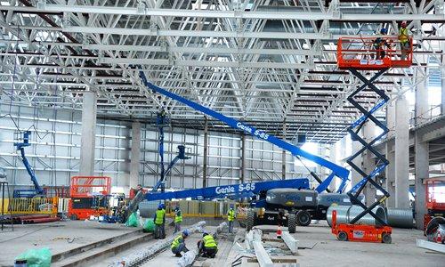 Work on Tesla plant accelerates