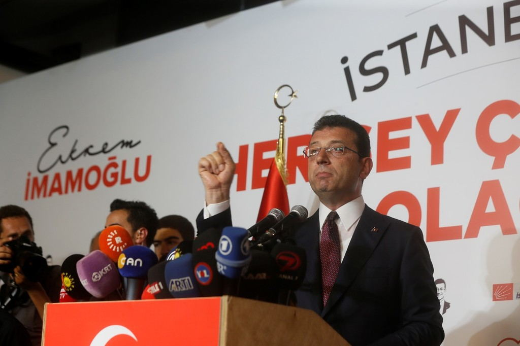Turkey's president congratulates opposition candidate on winning Istanbul mayoral election