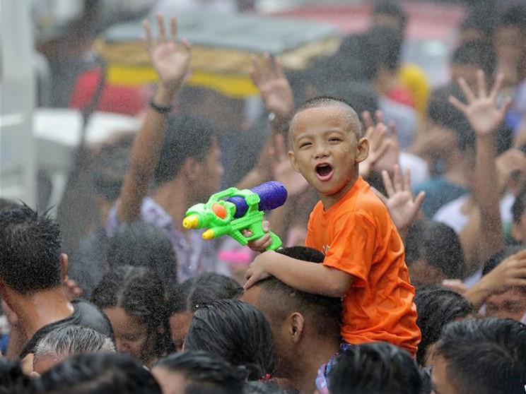 People celebrate Wattah-Wattah Festival in San Juan City