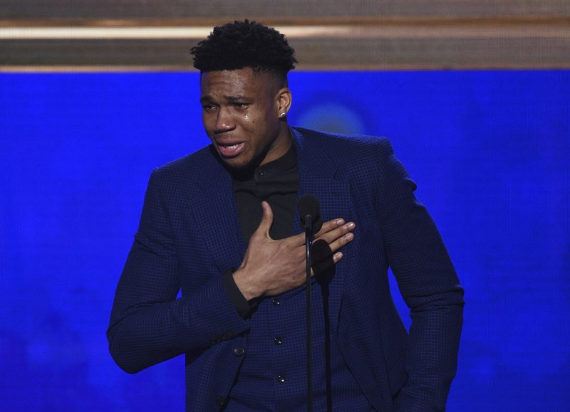 Teary-eyed Antetokounmpo wins NBA MVP honors