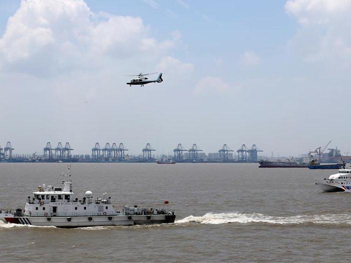 Emergency rescue drill held near Wusongkou Port in Shanghai