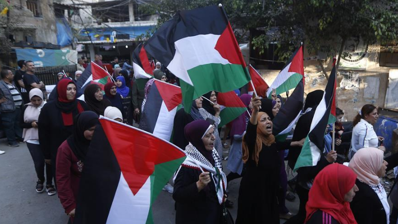 Palestinian refugees in Lebanon hold demonstrations to protest against US Mideast peace plan