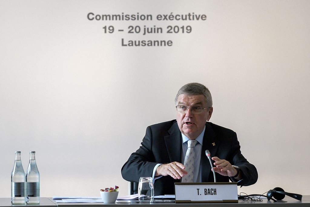 IOC President Bach calls for Olympic values to be respected in an age of 'global crises'