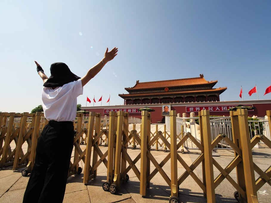 Tiananmen Gate shows new look to mark 70th anniversary of PRC founding