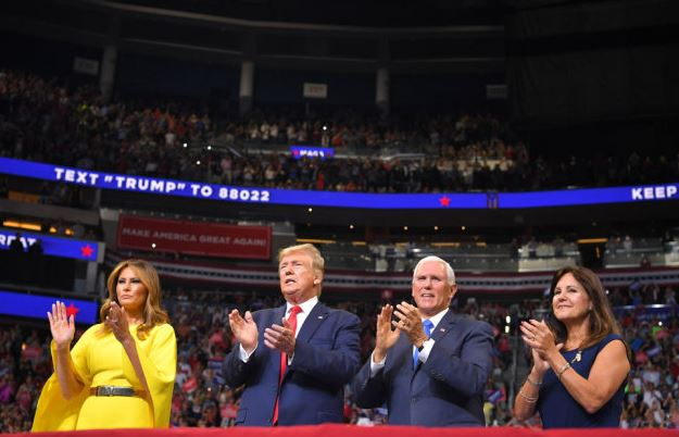 Trump says to stick with VP Mike Pence as reelection running mate