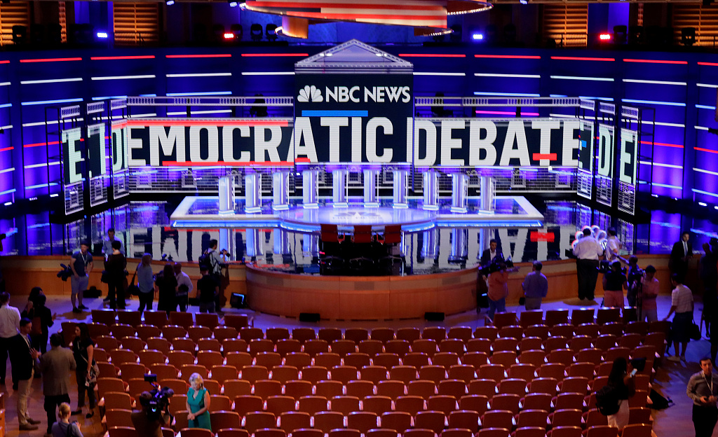 Democratic contenders for 2020 US presidency on stage for 1st debate
