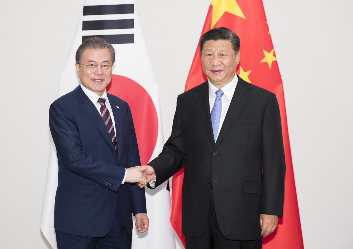 Xi, Moon agree to promote win-win cooperation, develop bilateral ties