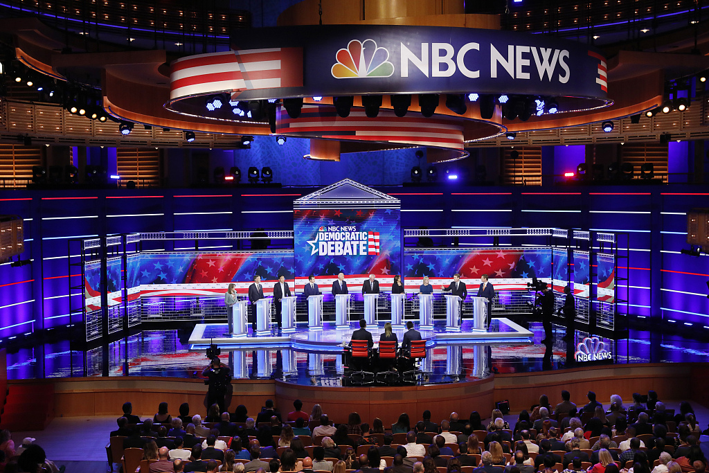 Second night of first Democratic debate features more early front-runners for party nomination