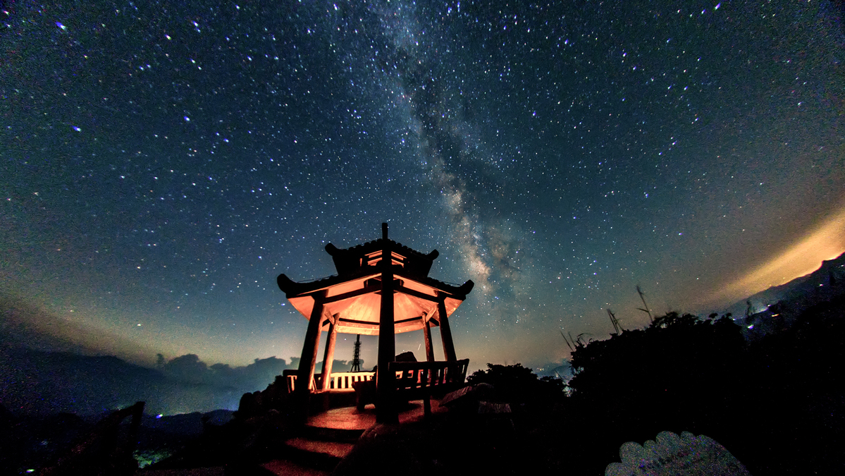Starry, starry night on Jiuxian Mountain