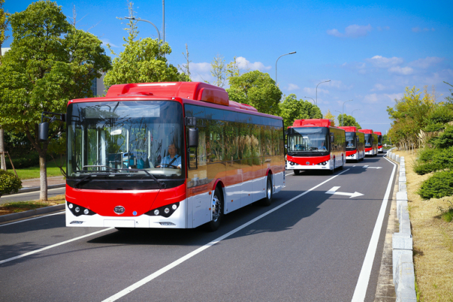 BYD helps Indian city launch country's biggest electric bus fleet