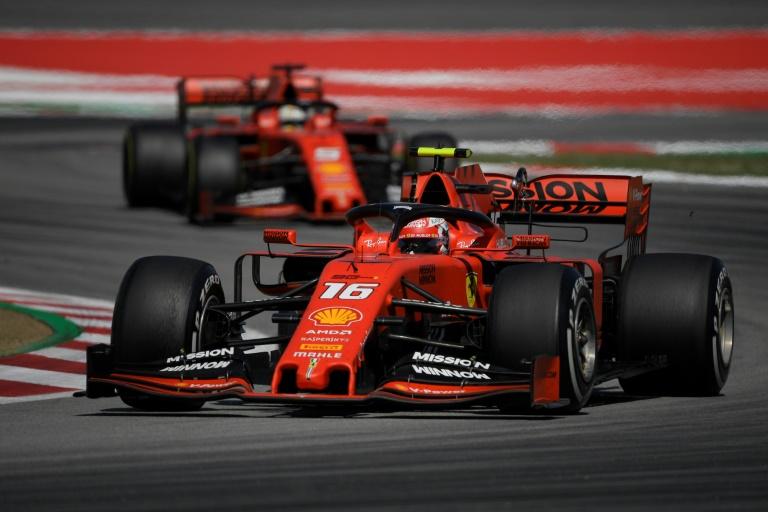 Vettel consoled by Leclerc pole as Ferrari sizzle