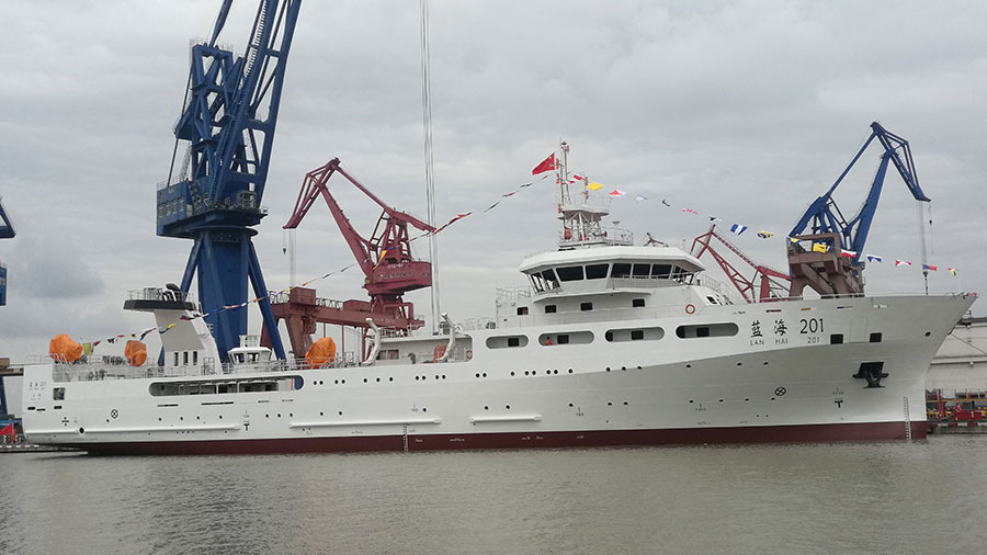 China's largest fisheries research vessels put into service