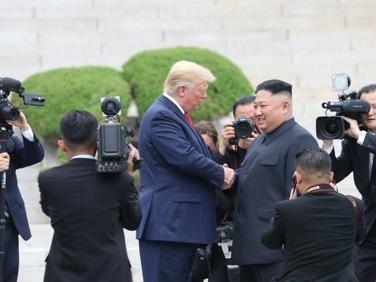 Trump, Kim Jong-un meet, shake hands in Panmunjom