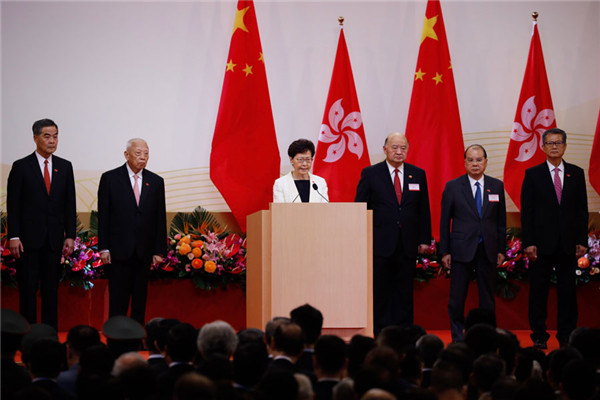 Lam vows to give HK a new start