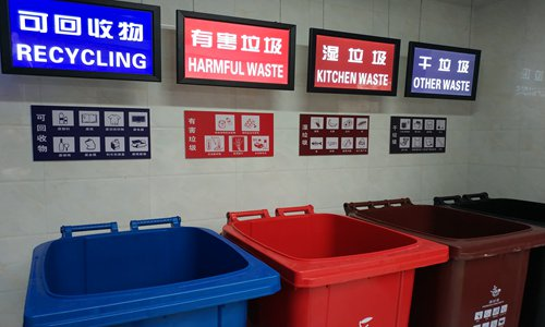 Shanghai issues tickets to garbage-sorting violators on the first day of regulation