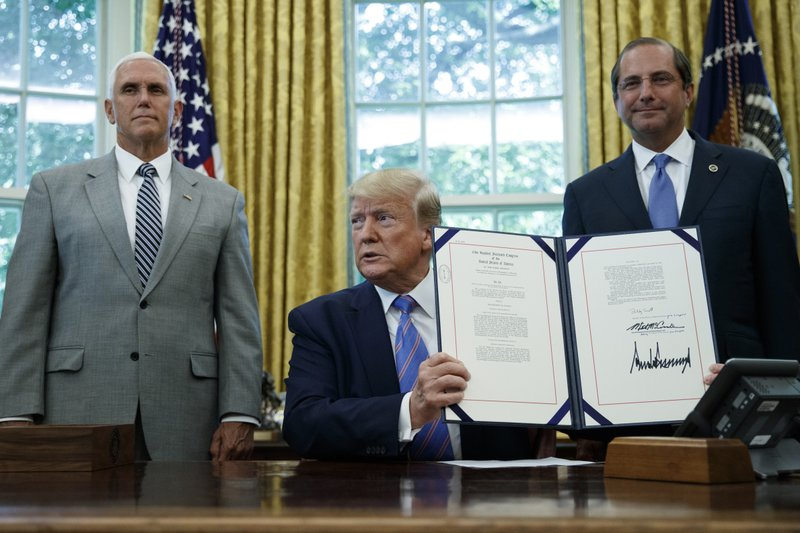 Trump signs humanitarian aid package to bolster migrant care