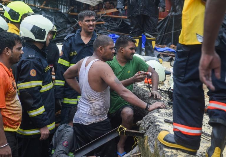 Wall collapse kills 21 as monsoon chaos hits Mumbai
