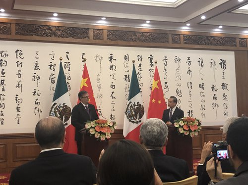 China, Mexico vow to jointly uphold multilateralism, lift ties
