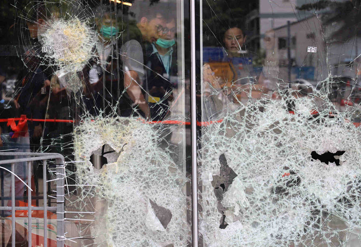 Violence of attack on HK legislative chamber condemned