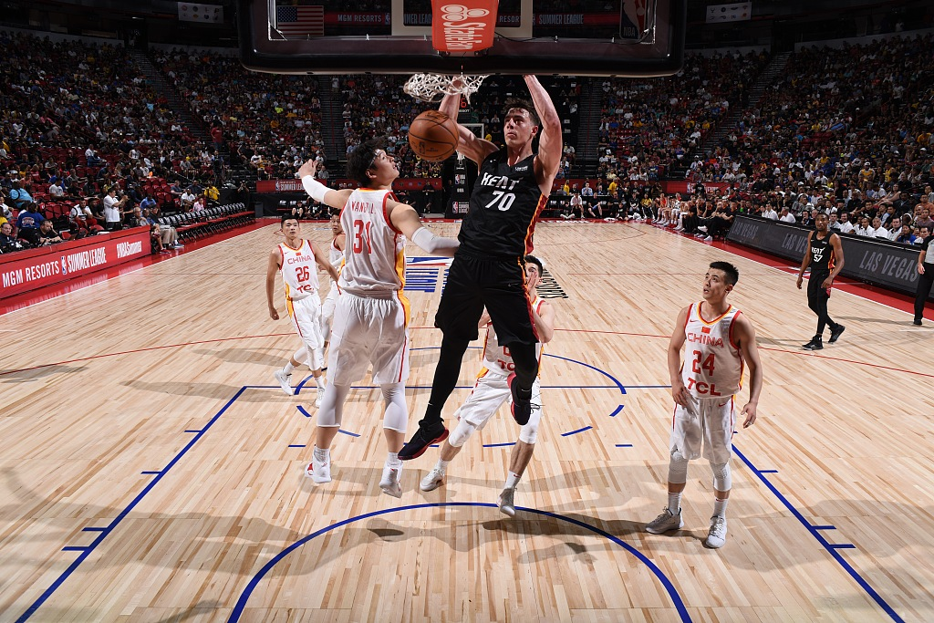 China men's basketball team lose to Heat in NBA Summer League opener