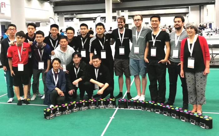 China's Zhejiang University wins int'l robot soccer championship